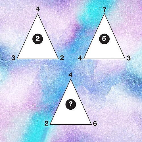 تست هوش | چه عددی داخل مثلث آخر قرار میگیرد؟