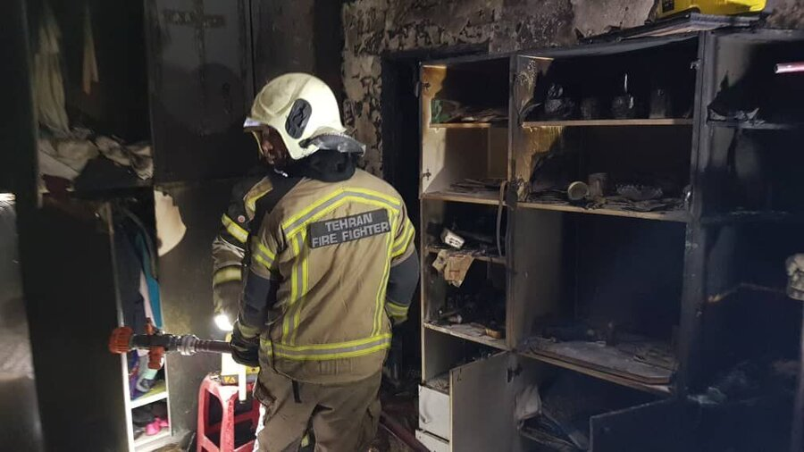 آتش سوزی ـ شیرخوارگاه آمنه