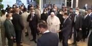ویدئو | ورود پاپ فرانسیس به دفتر آیتالله سیستانی