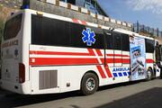 اعزام اتوبوسآمبولانس برای حادثه آتشسوزی مرز ماهیرود