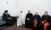 ویدئویی از دیدار پاپ با آیت الله سیستانی
