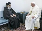 واکنش شریعتمداری در کیهان به سفر پاپ به عراق |  اولین پیام این ملاقات برای پاپ در لحظه ورود به خانه آیتالله سیستانی
