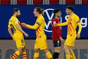 پیروزی کاتالانها در پامپلونا | یاران مسی در تعقیب اتلتیکو