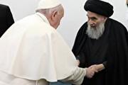ویدئو | لحظه  تاریخی خداحافظی پاپ و آیت الله سیستانی