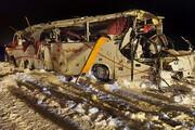 عکس | سقوط اتوبوس فوتبالی در چالوس | ۱۹ نفر مصدوم شدند و یک نفر جان باخت