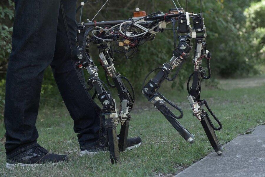 روباتی با پاهای منعطف برای سطوح غیرقابل پیشبینی
