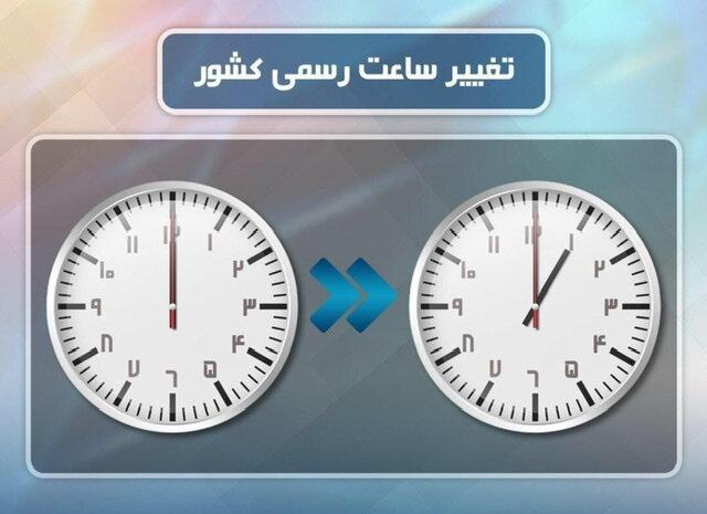 ساعت رسمی راس ساعت ۲۴ اول فروردین تغییر میکند