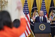تصاویر | نخستین نشست خبری جو بایدن دو ماه پس از ورود به کاخ سفید
