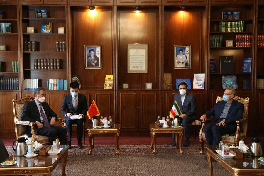 لاریجانی و وزیر خارجه چین