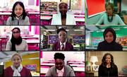 تماس تصویری میشل اوباما با دختران دانشآموز دو مدرسه در لندن