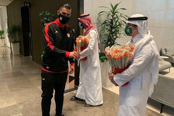 عکس | عربستانیها با گل به استقبال فولاد رفتند