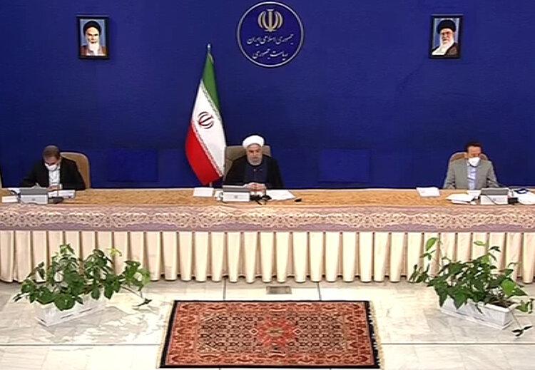 روحاني در جلسه هيات دولت 18 فروردين 1400