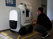 تحویل خریدهای سوپرمارکتی  با روبات در دوران کرونا
