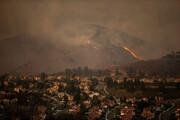تلاش برای مهار آتش در ارتفاعات قیروزکارزین