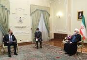 هشدار روحانی در دیدار با لاوروف: حضور اسرائیل در خلیج فارس خطرناک است | تنها راه حل مساله برجام از نظر مسکو