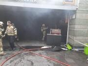 آتش سوزی در ورودی ایستگاه متروی قیطریه