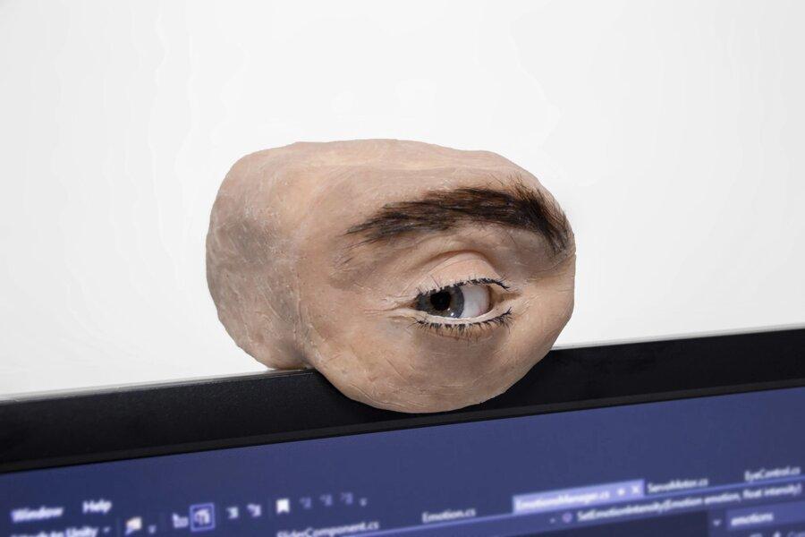 ویدئو  چشم الکترونیکی  از نوعی دیگر  وبکمی که پلک و ابرو دارد