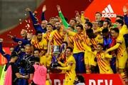 طوفان مسی در شب فینال حذفی | اولین جام کومان با آتشبازی کاتالانها