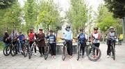 با دوچرخه درجاده سلامتی