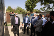 بازدید عضو پارلمان شهری از پروژه احداث باغ راه حضرت فاطمه زهرا(س)