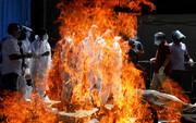 شرایط کرونا در هند فوق بحرانی است؛ مرگ ۱۳ بیمار کووید-۱۹ در آتشسوزی یک بیمارستان | ویروس به بلندترین قله جهان رسید