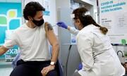 عکس روز| نخستوزیر کانادا واکسن میزند