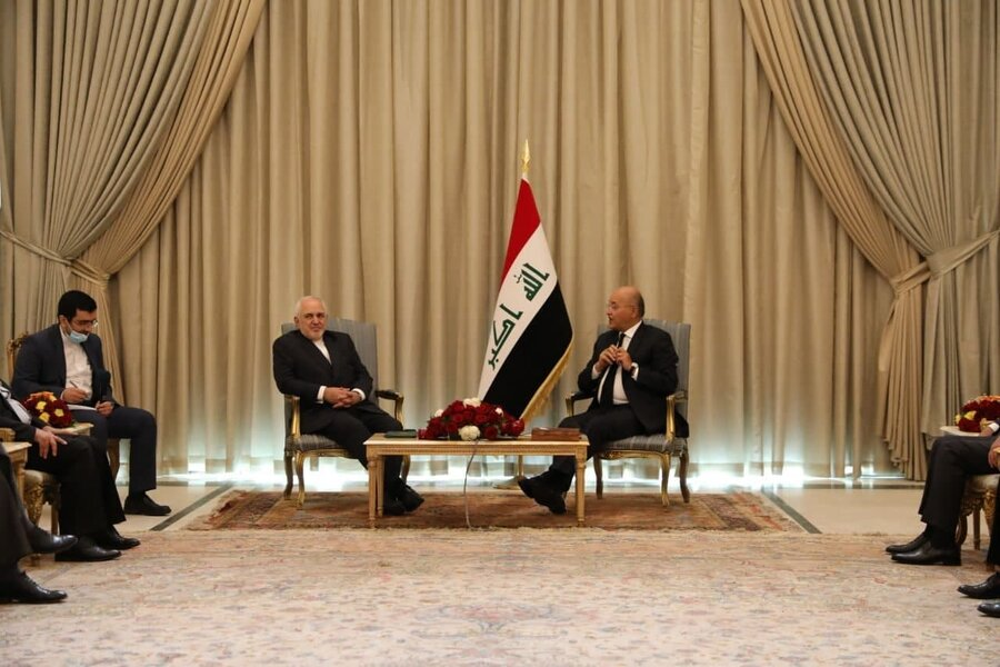 ظريف و رئيس جمهور عراق