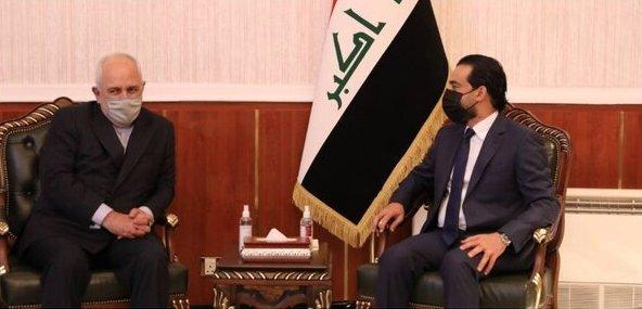 ظریف و رئیس مجلس عراق