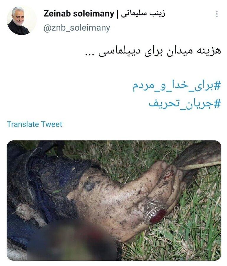 توئیت زینب سلیمانی