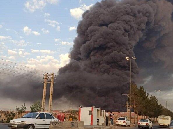 آتش سوزی کارخانه الکل قم