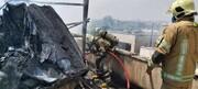 ویدئو | آتشسوزی در یک ساختمان اداری ـ تجاری در میدان حر