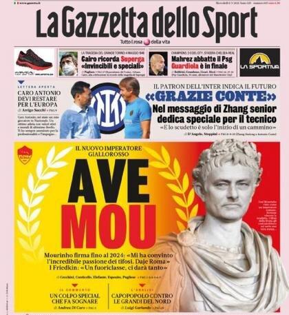 عکس | استقبال خاص از مورینیو در ایتالیا | خوزه امپراطور رم شد!