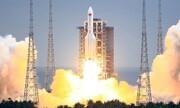 نخستین تصویر از موشک چینی که در حال نزدیک شدن به زمین است