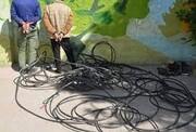دستگیری 299 سارق کابل تلفن در اردبیل