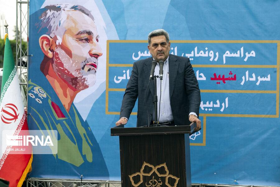 رونمایی از تندیس سردار شهید سلیمانی در تهران