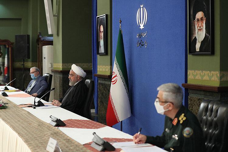 روحاني در جلسه ستاد كرونا شنبه 18 ارديبهشت