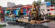 لایروبی رسوبات از رودخانه شنبه بازار روگا بندرانزلی