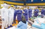 ارائه خدمات کرونایی در ورزشگاه هشتم شهریور یافت آباد