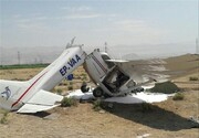 سقوط هواپیمای آموزشی در اراک | خلبان و کمکخلبان کشته شدند
