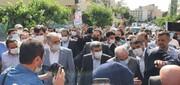 ویدئو | طرفداران احمدی نژاد در مقابل وزارت کشور
