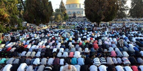 عکس | اقامه باشکوه نماز عید فطر در مسجدالاقصی