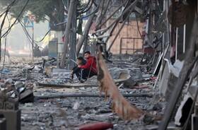 تصاویر   ویرانههای غزه زیر حملات هوایی اسرائیل