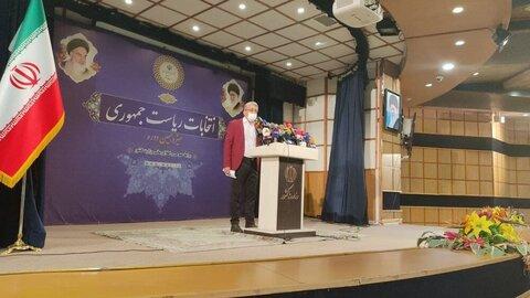 شوی احمدینژاد جدید با کت قرمز در ستاد انتخابات   میخواهم وزیر شادی داشته باشم