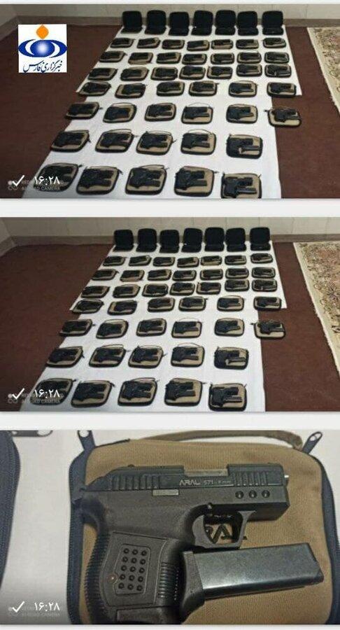 عکس | کشف محموله سلاحهای مخصوص ترور در غرب ایران