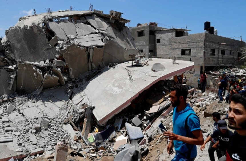 تصاویر | ویرانههای غزه زیر حملات هوایی اسرائیل