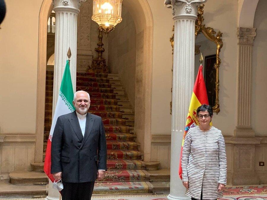 دیدار ظریف با وزیر امور خارجه و امور اتحادیه اروپایی اسپانیا