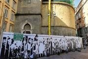 بازتاب جنایات اشغالگران صهیونیست روی دیوارهای ناپل | هنرمند ایتالیایی با نقاشی دیواری از مردم مظلوم فلسطین حمایت میکند