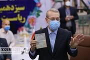 تصاویر | ثبت نام علی لاریجانی و محسن هاشمی در انتخابات