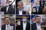 تصاویر |  ثبت نام بازیگران اصلی انتخابات در روز آخر