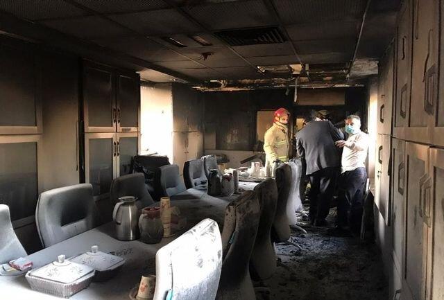 عکس | آتشسوزی در بیمارستان بقیهالله تهران